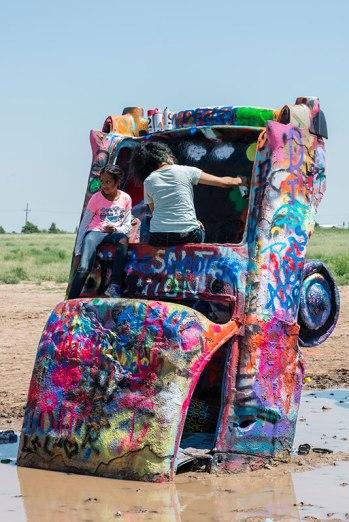 Route 66 - Cadillac Ranch, Amarillo (Texas)