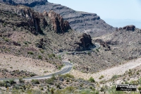 Route 66 sulle Black Mountains (Arizona)