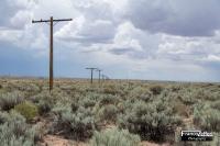 Pali del telegrafo della vecchia Route 66 al Painted Desert (Arizona)