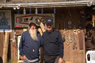 Elmer del Bottle Tree Ranch, era la seconda volta che lo incontravo. un visionario che ha creato una delle attrazioni più affascinanti della Route 66.