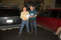 Sono con lo scrittore Jim Hinckley, è la seconda volta che lo incontro nella sua Kingman, una persona straordinaria ed una fonte di informazioni inesauribile sulla Route 66. Jim mi ha regalato il suo ultimo libro.