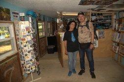 Linda della Blue Whale di Catoosa (Oklahoma). Siamo amici su Facebook e sapeva più o meno quando sarei passato. E' stato molto emozionante incontrarla.