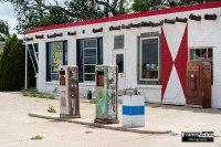 La Phillips 66 Gas Station di Adrian in Texas