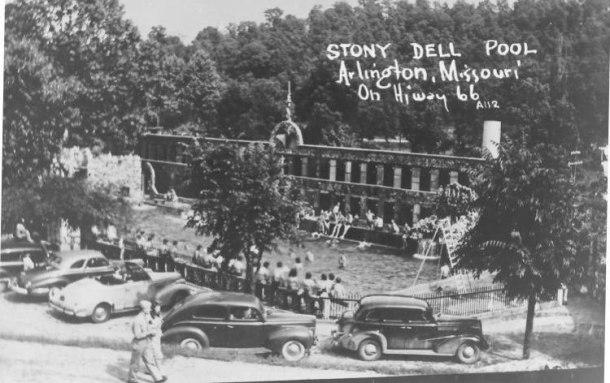 Vecchia foto dello Stonydell Resort presa da internet